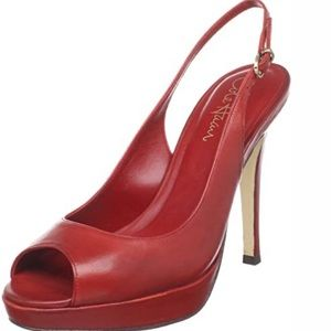 Cole Haan Nike Air Stephanie Slingback Pumps Red